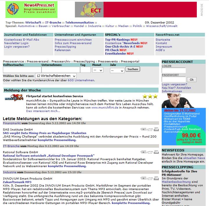 News4Press.net im Dezember 2002
