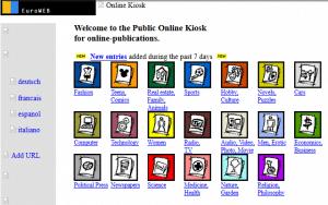 So sah der Onlinekiosk noch 1998 aus.